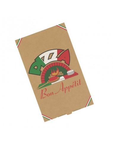 Boite à pizza Calzone. Boîte en carton kraft pour pizza chausson.